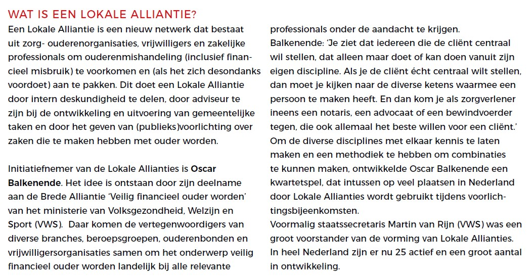 wat is een lokale alliantie